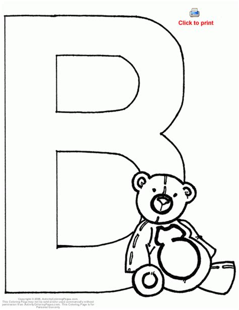 b bear coloring page letter b worksheets coloring pages