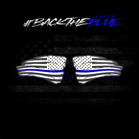 Back The Blue Set Of Back The Blue Set Of 2 Distressed American Flag Decals White Blue Seven Slat 4 215 4