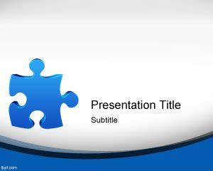 Jigsaw Puzzle Powerpoint Template Ppt Template Free Puzzle Powerpoint Template