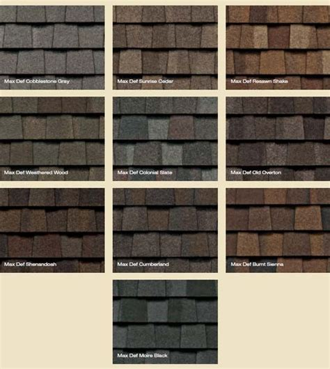 certainteed shingles colors chart c and c family roofing certainteed shingles landmark tl