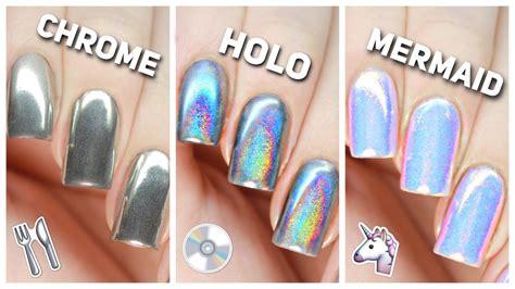 Simple Tips To Apply Chrome Holo Amp Mermaid Nail Powders