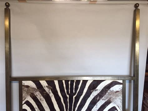 zebra headboard 1970s mastercraft queen sized headboard upholstered in