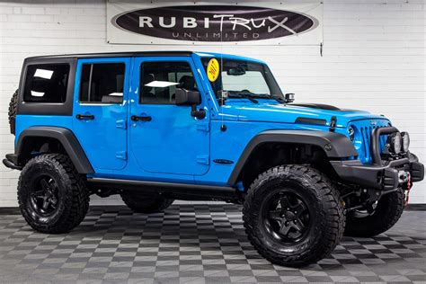 jeep wrangler 2017 jeep wrangler rubicon unlimited chief blue