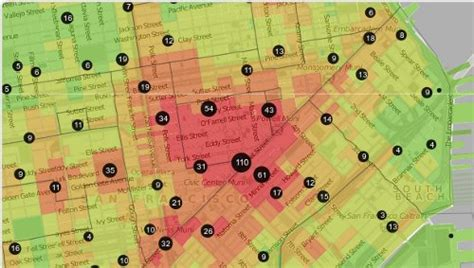 san francisco map crime investing in san francisco tech boom