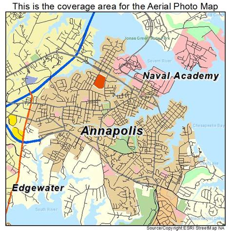 maryland map annapolis aerial photography map of annapolis md maryland