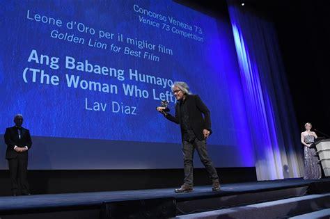 film lion d or mostra de venise lion d or pour quot the woman who left quot du