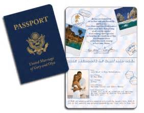 realistic usa passport invitation