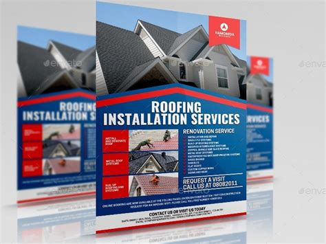 roofing services flyer by artchery graphicriver