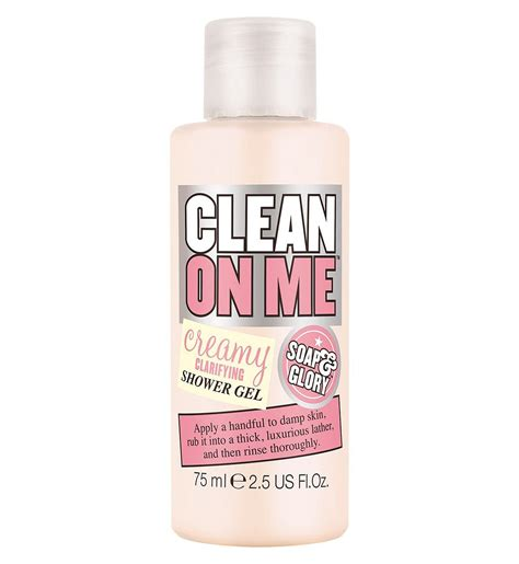 soap mini clean on me shower gel 75ml boots