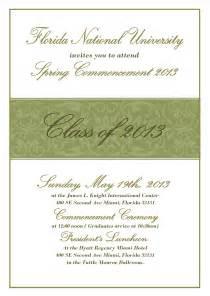 commencement ceremony invitation florida national florida national