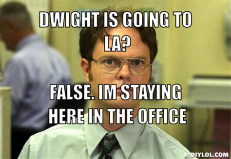 Dwight Schrute Meme - false the office quotes quotesgram