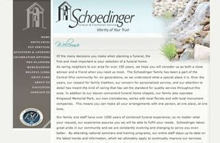 schoedinger funeral home professional services