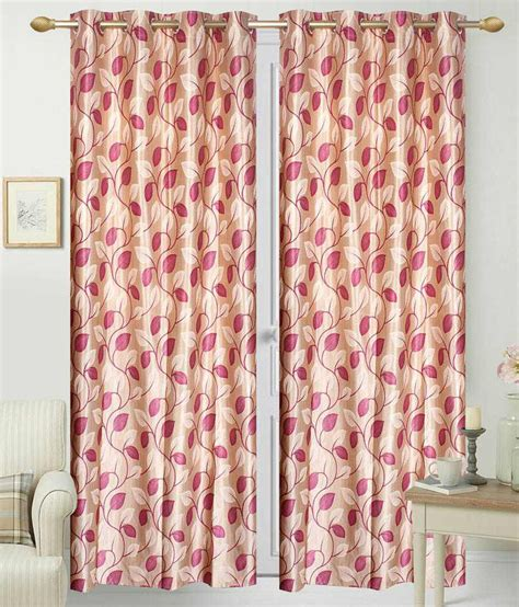 Beige And Pink Curtains Decorating Idecor Single Door Eyelet Curtain Buy Idecor Single Door Eyelet Curtain At Low Price