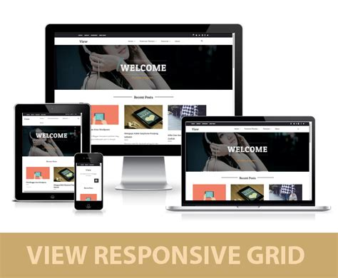 view responsive grid blogger template media blogspot
