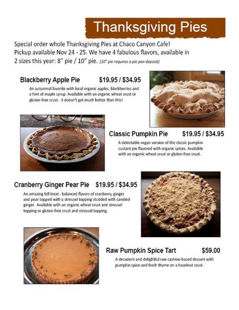 vegan thanksgiving pies chaco canyon organic cafe