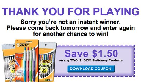 printable stationery coupons new bic stationery coupon 0 14 pens at kroger kroger