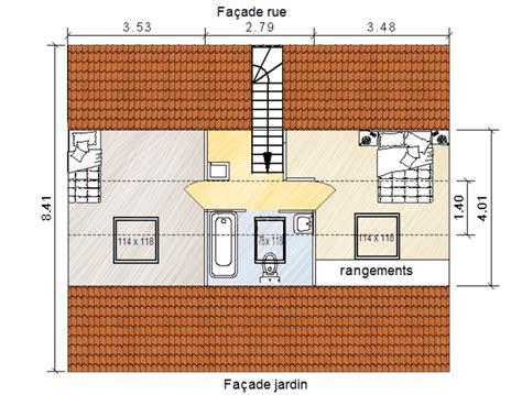 Amenagement Combles Chambre Salle De Bain by Deux Chambres Sous Combles Avec Salle De Bain Commune
