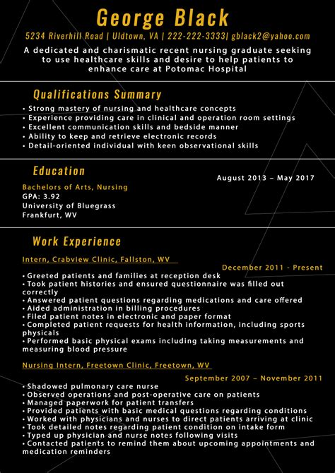 New Grad Nursing Resume by Best Sle New Grad Nursing Resume
