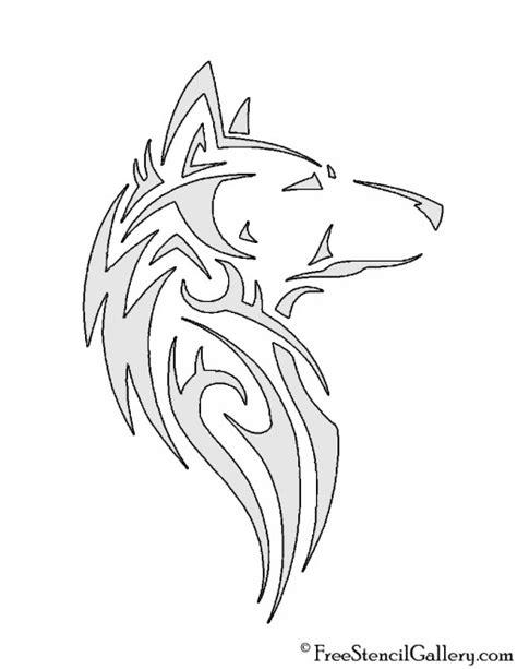 tribal pattern template wolf tribal stencil free stencil gallery