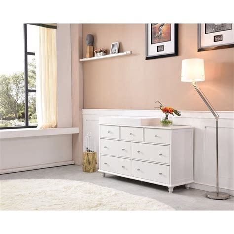 white baby change table cardinia 7 drawer baby change table dresser white buy