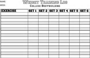 workout table template exercise chart template bill payment schedule template