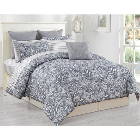 duck river mathylda 10 piece grey queen comforter set