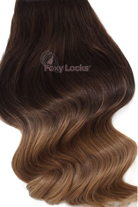 clip in human hair extensions mocha toffee ombre deluxe 20 quot clip in human hair