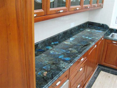 labradorite is a luxury option for kitchen countertops