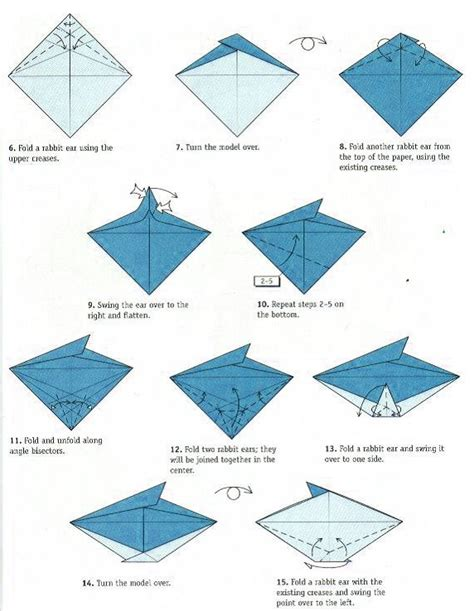 How To Make A Origami Flapping Bird - flapping bird schemes of origami from paper