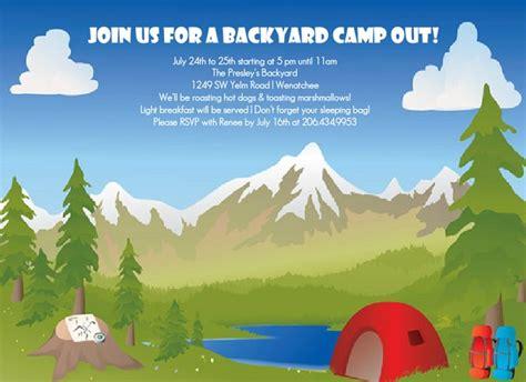 backyard birthday party invitations bachelor party invites outdoor themed