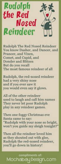 printable lyrics to rudolph the red nosed reindeer print rudolph the red nosed reindeer christmas song lyrics
