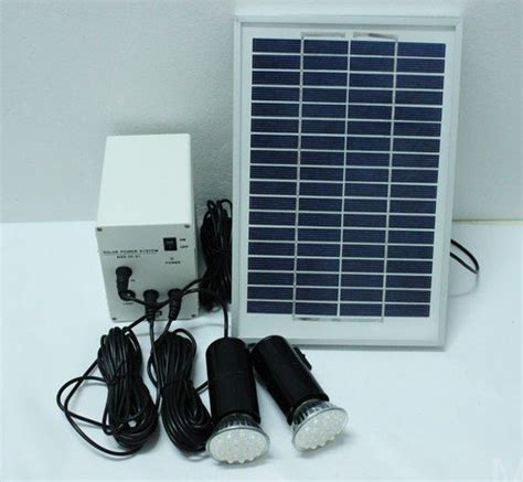 Outdoor Lighting Systems Green Energy Solar System 5w Solar Panel Battery Two Led Lighting Systems Home Indoor