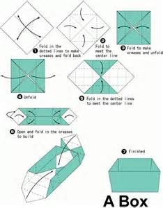 Origami Box Diagram - simple origami box search origami