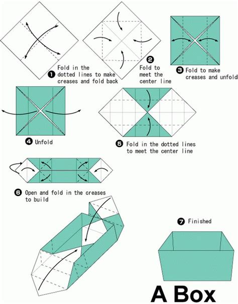 Origami Box Directions - simple origami box search origami