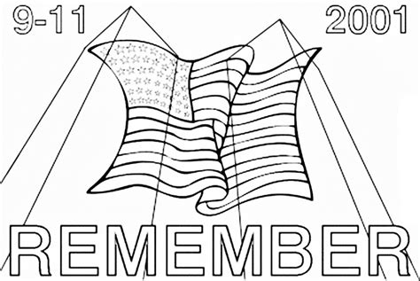 9 11 Memorial Coloring Pages by 9 11 Coloring Pages Coloring Home
