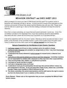Parent Child Behavior Contract Template by Behavior Contract Sle In Word And Pdf Formats