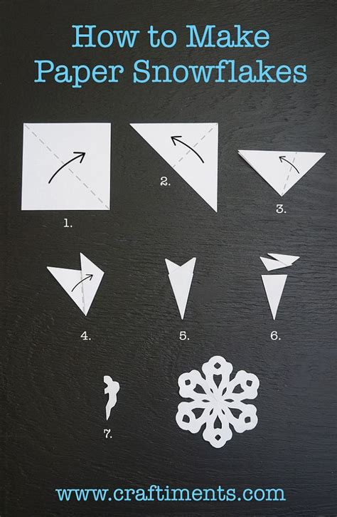 How To Make A Paper Sided - six sided snowflake paper crafts