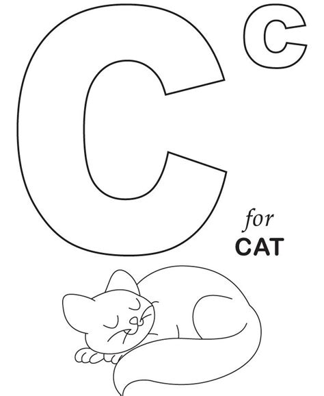 C Is For Cat Coloring Page free coloring pages of c is for cat