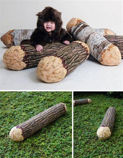 Pillow Log by Naturally Plush Beanbag Beaver Gnawed Pillow Log