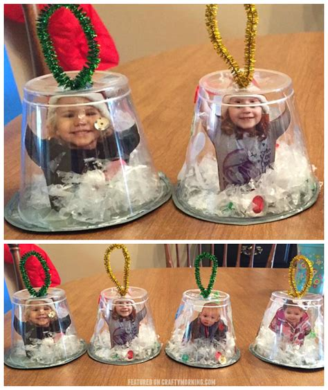 snow globe cup ornaments crafty morning
