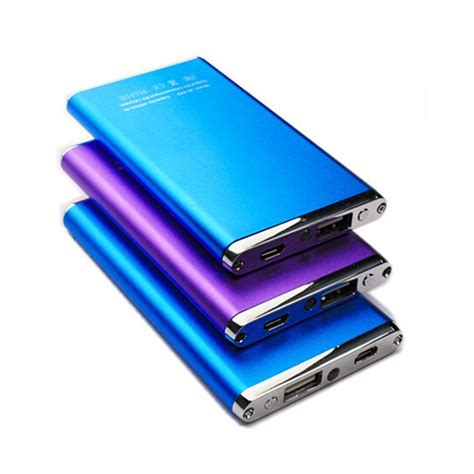 mobile charger 5600mah slim metal power bank external battery pack