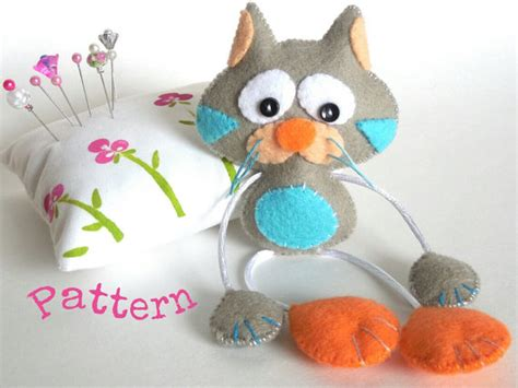 cute kitty pattern and tutorial skinny cat pdf sewing patterns cute cat toy felt cat