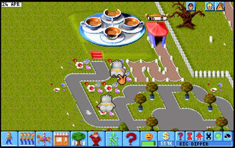 theme park game online theme park floppy version play dos games online