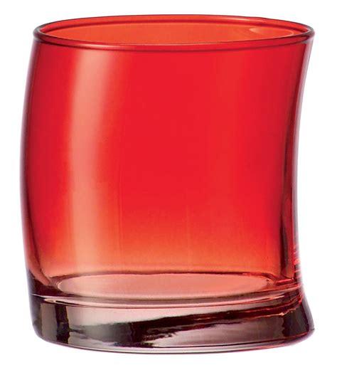 bicchieri moderni scopri bicchiere da acqua swing rosso di leonardo made