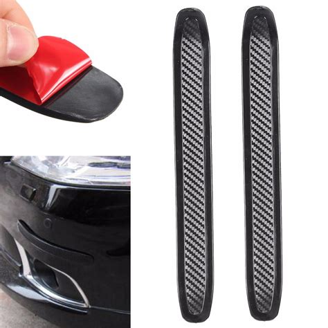 2pcs Car Front Rear Edge Bumper Corner Guard Scratch Protection Decora 2pcs carbon colloid front rear bumper corner guard anti scratch protection decoration