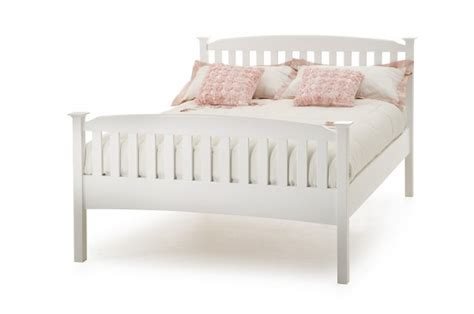 Serene Eleanor 4ft Small Double White Wooden Bed Frame Small Wooden Bed Frame