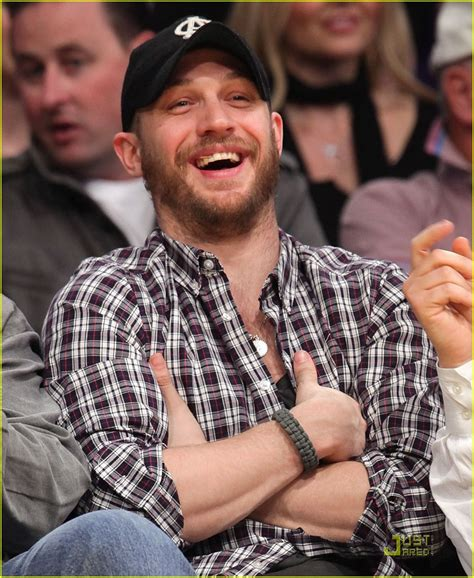Full Sized Photo of tom hardy lakers game 04   Photo 2516753   Just Jared