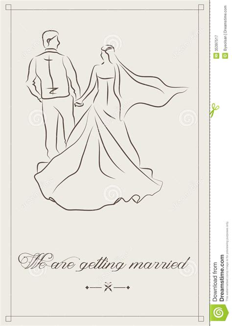 newlywed card template wedding invitation royalty free stock photography image