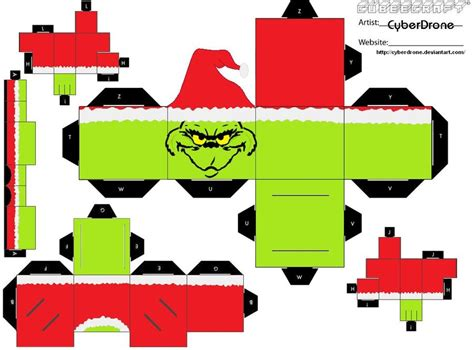 Cubee Papercraft - cubee the grinch by cyberdrone deviantart on