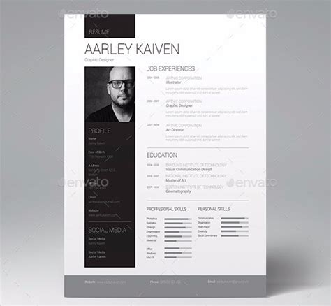 professional resume design templates 28 minimal creative resume templates psd word ai